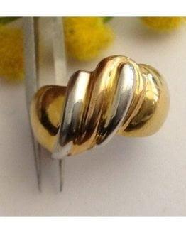 Anello in oro giallo / bianco / rosa 18kt - gr. 8.83