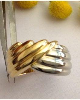 Anello in oro giallo / bianco 18kt - gr. 11.07