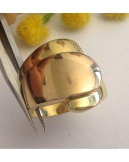 Anello in oro giallo / rosa 18kt - gr. 12