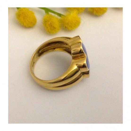 Anello in oro giallo con smalti - gr. 11.91