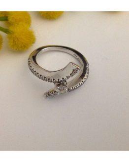"""Anello """"Damiani"""" in oro e Diamanti - 18kt Solid Gold Ring"""