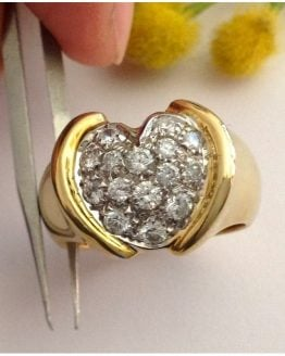 Anello in oro 18kt con Pavè di Diamanti - gr. 11,12