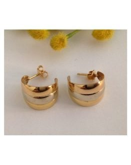 Orecchini in oro giallo / bianco / rosa 18kt - gr. 4.15