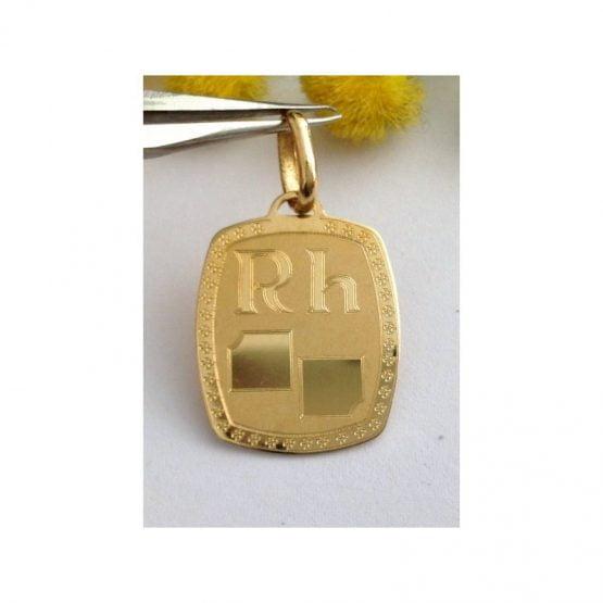 """Medaglietta """" Per Gruppo Sanguigno """" in oro 18kt - gr. 2.52"""