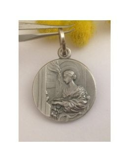 """Saint Cecily"" 925 Sterling Silver Medal"