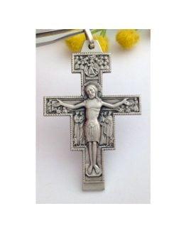 Crocifisso di San Damiano in Argento Massiccio 925