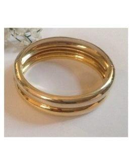 Bracciale rigido in oro giallo / bianco 18kt - gr. 57.1