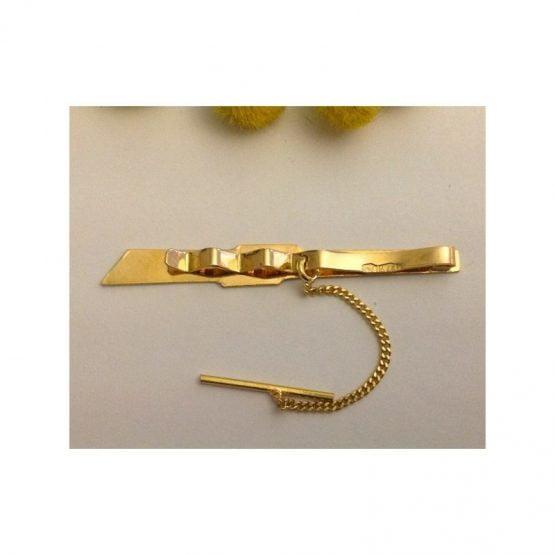 Fermacravatta in oro giallo 18kt - gr. 2.75