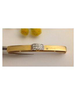 Spilla in oro giallo / bianco 18kt con 11 Diamanti Naturali - gr. 7