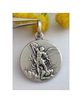 """Medaglietta """"San Michele Arcangelo"""" in argento 925 millesimi"""