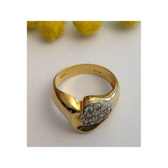 Anello in oro giallo 18kt con Cubic Zirconia - gr. 7.2
