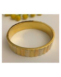Bracciale d'epoca in oro giallo / bianco / rosa - gr. 34.77