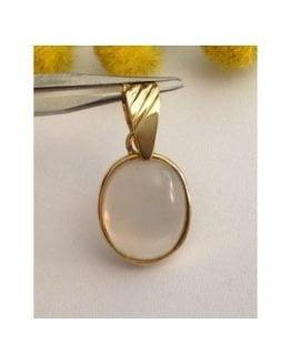 Ciondolo in oro 18kt con Pietra di Luna - gr. 3.28