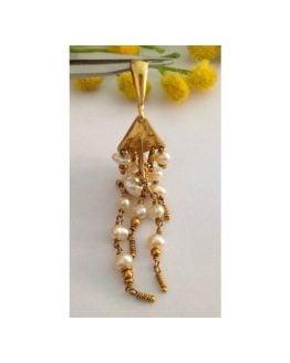Pendente in oro 18kt e Perle di Fiume - gr. 6.96