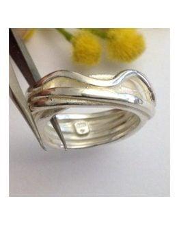 Anello Artigianale in argento massiccio 925