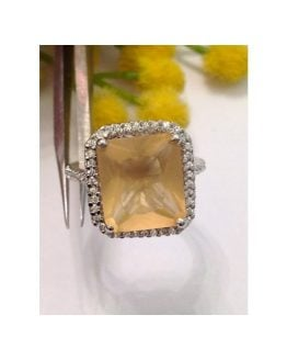 Anello in argento 925 con Cubic Zirconia Miele