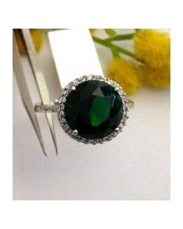 Anello in argento 925 con Cubic Zirconia Verde