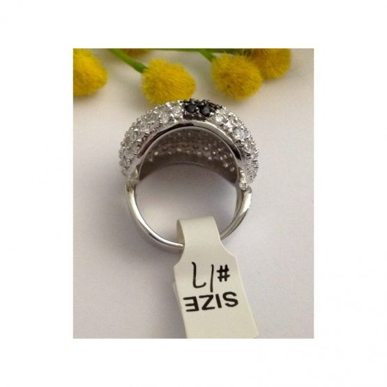 Anello in argento 925 con Pavè¨ di Cubic Zirconia
