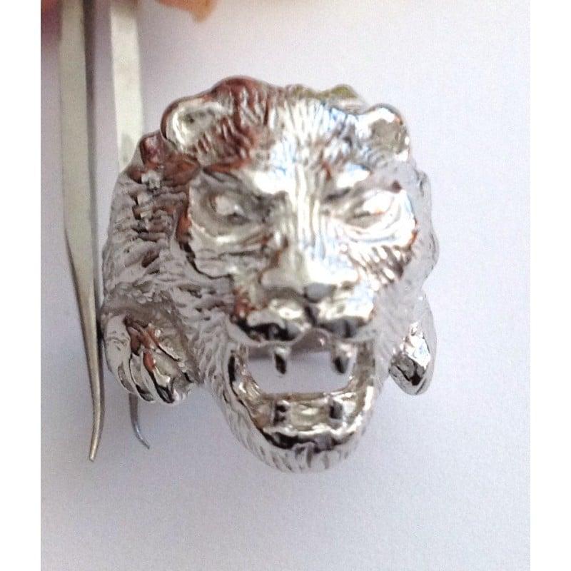 ANELLO TESTA di LEONE ARGENTO 925//1000 sterling silver