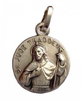 "925 Sterling Silver medal"" Saint Jude Thaddeus """