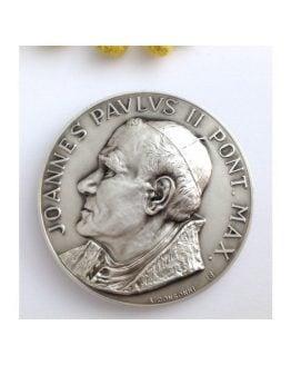 Medaglione Santo Giovanni Paolo II° e Santo Giovanni XXIII°